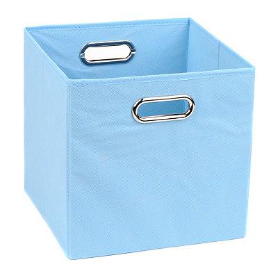 Solid Light Blue Storage Bin