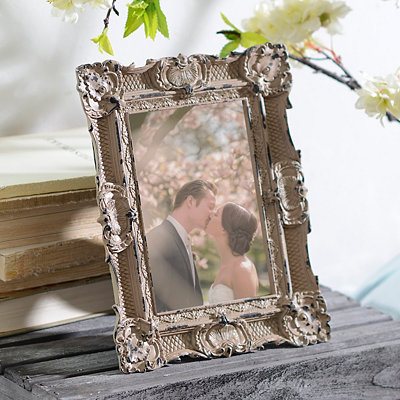 Ornate Vintage Gray Picture Frame, 5x7