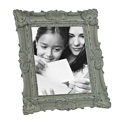 Ornate Vintage Aqua Picture Frame, 8x10