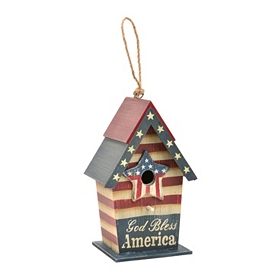 Red, White, & Bluebird Patriotic Birdhouse