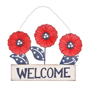 Patriotic Welcome Plaque, Red