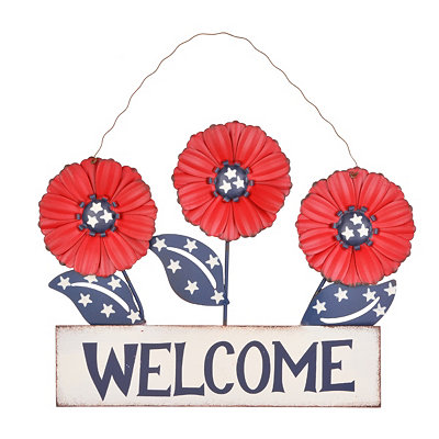 Shop 4th of july decorations and patriotic home decor for Patriotic welcome home decorations