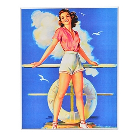 Beach Beauty Pin Up II Wall Plaque
