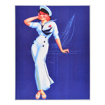Beach Beauty Pin Up III Wall Plaque
