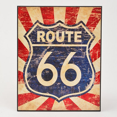 Route 66 I Wall Plaque