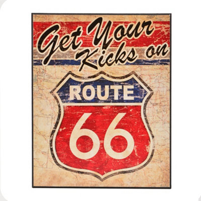 Route 66 II Wall Plaque