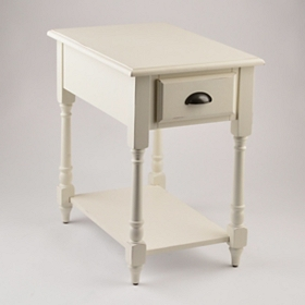 Antique White Accent Table