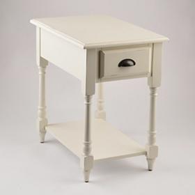 Antique White Accent Table