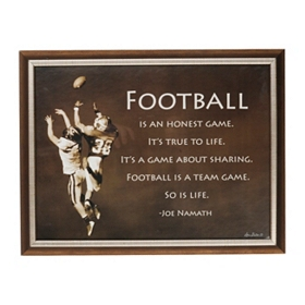 Football is an Honest Game Plaque