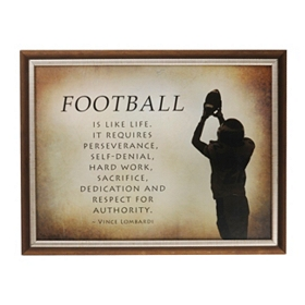 Football is Like Life Plaque