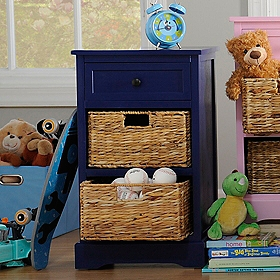 Cobalt Blue 3-Drawer Kids Storage Chest