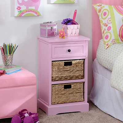 Pink 3-Drawer Kids Storage Chest