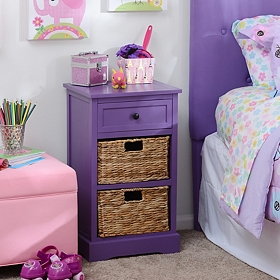 Purple 3-Drawer Kids Storage Chest