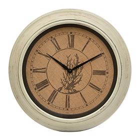 Burlap Coral Clock