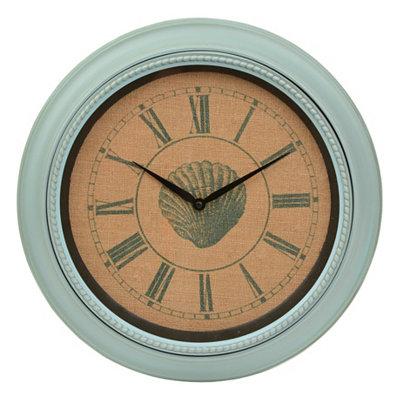 Burlap Shell Clock