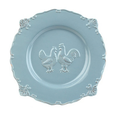 Blue Rooster Dinner Plate