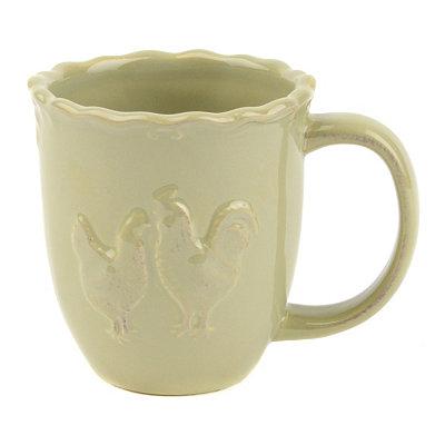 Green Rooster Mug