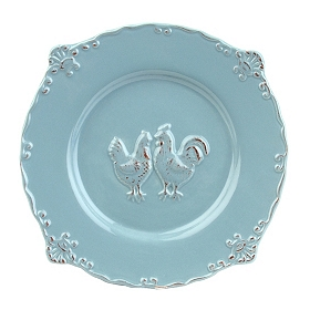 Blue Rooster Salad Plate