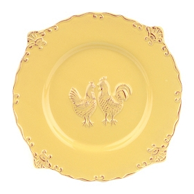 Yellow Rooster Salad Plate