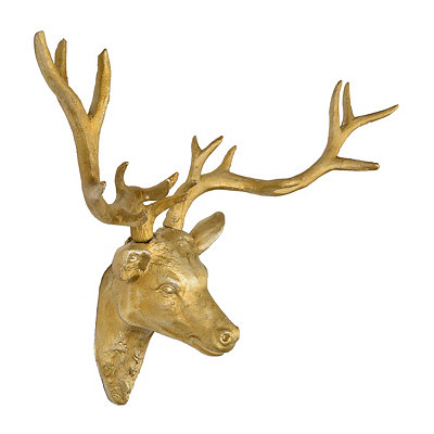 Golden Deer Head Plaque