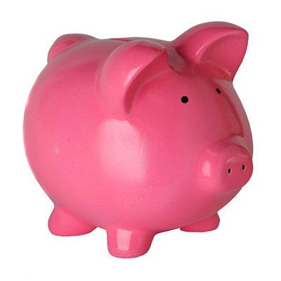 Pink Ceramic Piggy Bank