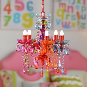 Multicolor Gypsy Chandelier