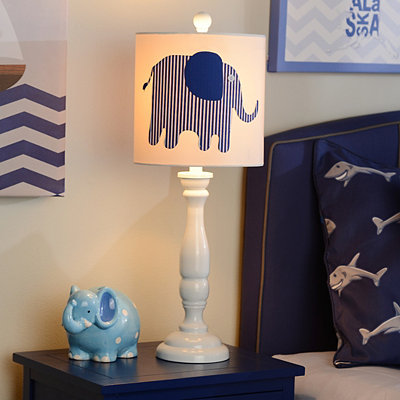 Blue Elephant Buffet Lamp