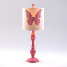 Pink Butterfly Buffet Lamp