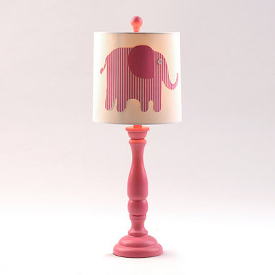 Pink Elephant Buffet Lamp