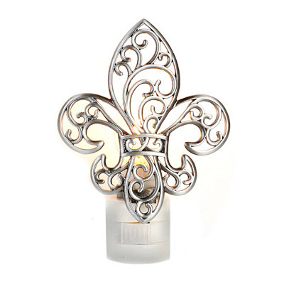 Scrolled Fleur-de-lis Night Light