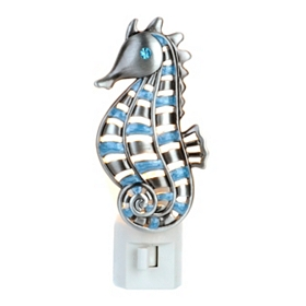 Pewter Seahorse Night Light