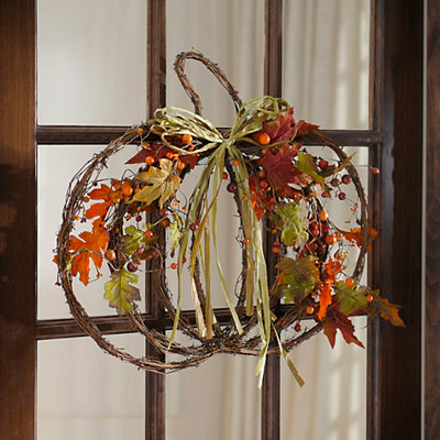 Fall Forest Pumpkin Wall Plaque