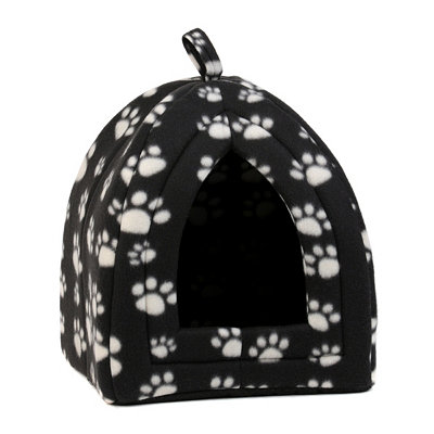 Paw Print Collapsible Pet Hut