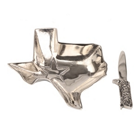 Metal Texas Dip Bowl and Spreader, 2-pc. Set