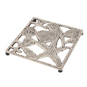 Square Metal Coastal Trivet