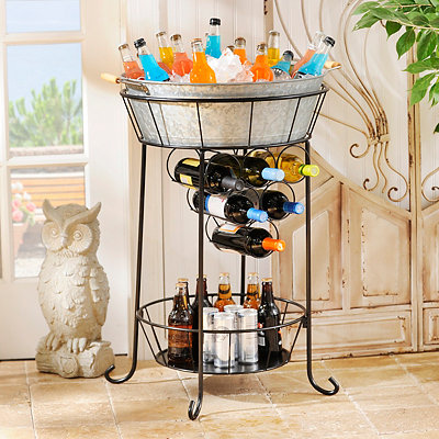 Galvanized Metal Beverage Station