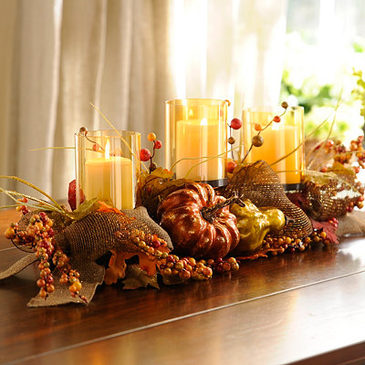 Metallic Pumpkin Centerpiece