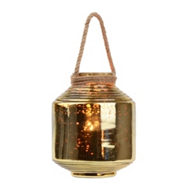 Champagne Mercury Glass Lantern