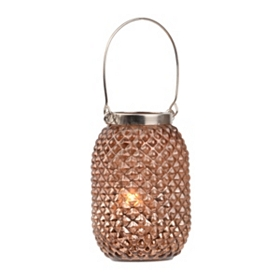 Copper Pineapple Glass Lantern