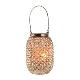 Gold Pineapple Glass Lantern