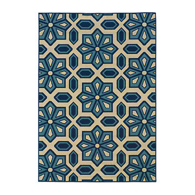 Vera Capri Indoor/Outdoor Rug, 5x7