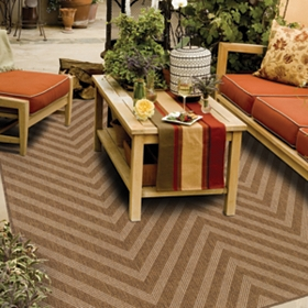 Vera Birch Chevron Indoor/Outdoor Rug, 5x7