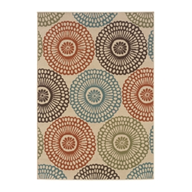Vera Floral Medallion Indoor/Outdoor Rug, 5x7