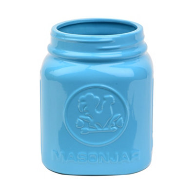 Aqua Rooster Utensil Holder