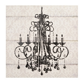 Distressed Chandelier Canvas Art Print