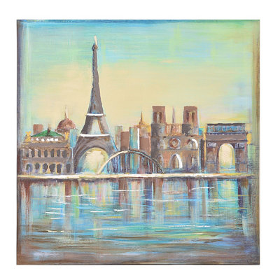 Colors of Paris Canvas Art Print