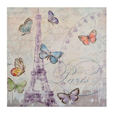 Parisian Butterflies Canvas Art Print