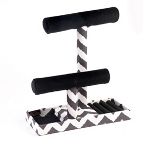 Black Chevron Jewelry Organizer