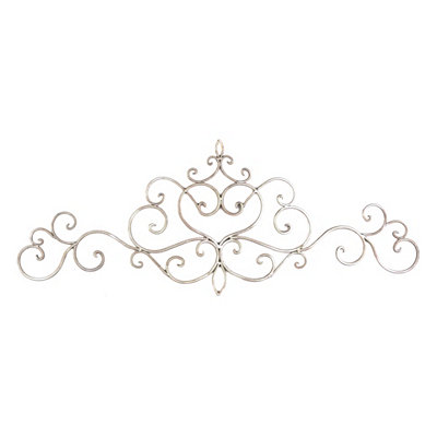 Cream Scrolled Metal Salaets Plaque