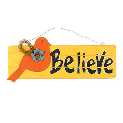 Believe Wall Hanger Plaque